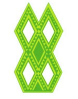Ensemble en forme d'écailles géométriques