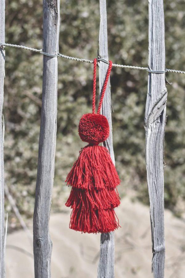 Pompon Wayuu Rouge Cerise